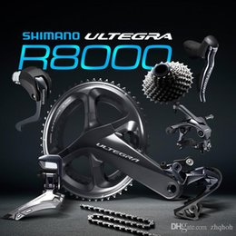 Wholesale Carbon Fibre Alloys - Ultegra R8000 50 34T 53 59T 165 170 172.5 175mm 2*11 22 Speed road bike bicycle groupset Bicycle Parts