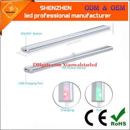 Wholesale Usb Infrared Sensor - USB Rechargeable New 20 LED IR Infrared Motion Detector USB Charging Sensor Lighting Closet Night Lamp Lithium-ion Battery Cabinet Wardrobe
