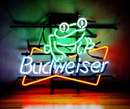 Wholesale Budweiser Bar - New Tat tire Neon Beer Sign Bar Sign Real Glass Neon Light Beer Sign ME 153-Budweiser-Liz 16x12 001