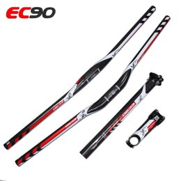 Wholesale Seatpost Carbon Flat - Ultra-light fulcarbon handlebarFull Carbon Fiber Flat Riser Bicycle Handlebar+Carbon Seatpost+Ca