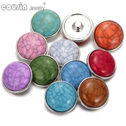 Wholesale Dark Red Charms - New arrivals Wholesale fashion 18 mm dark blue imitation turquoise snap button charms fit DIY jewelry