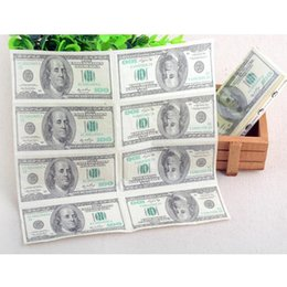Dólares de papel on-line-Atacado-100 Dólar Guardanapo Toalha De Papel Higiênico Impressão Natural Conforto Engraçado Personalidade Partido Popular Wipe
