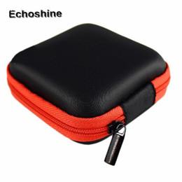 Wholesale Earphone Soft Case - Wholesale- Hot Sale 5 Colors Fashion Coin Purses PU leather Zipper Protective case Vesatile bags Earphone bag Soft box sac a main Wholesale