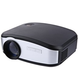 Wholesale Mini Portable Projection - Wholesale-Cheerlux C6 Mini Projector 1200 Lumens 800x840 Video Portable Cinema Projector Game Home Proyector HDMI VGA TV input Projection