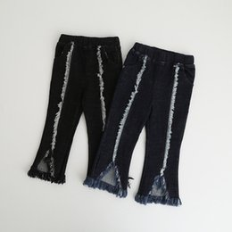 Wholesale Clothes Boots For Kids - Girls Tassels Jeans 2017 Autumn Denim Pants Europe and America Fashion Girls Pants for Kids Clothing HX-571