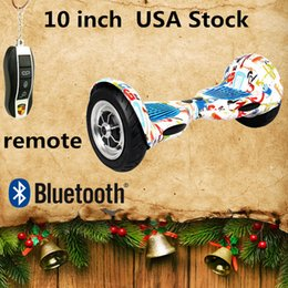 Wholesale Led Scooter Wheels - UL Certification US Stock Hoverboard Bluetooth Remote Speaker 10 inch Two Wheels Self Balancing Wheel Smart Electric LED Scooters Skateboard