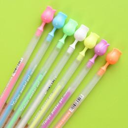 Wholesale Chalks Color - Wholesale-7 pcs set novelty Rose Flower watercolor chalk pen DIY decoration for album color pens set korean stationery school suplies