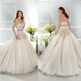 Wholesale Strapless Wedding Reception Dresses - 2017 Modest plus size reception wedding dresses lace applique ivory organza sexy backless sheer neckline Custom Country Bridal gown 12