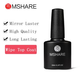 Wholesale Gel Resin Nails - Wholesale- MSHARE 10ML Wipe Top Coat Long Lasting Gel Nail Polish Cover Germany Health Resin Material DIY Nail Tools