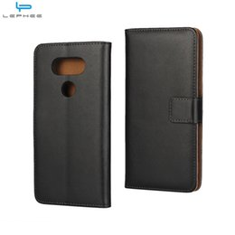 Wholesale Lg G2 Leather Flip Case - For LG G6 G5 G4 G2 Mini K10 V20 Genuine Flip Leather Case Wallet Credit Card Holder Stand Magnetic Cover Shockproof
