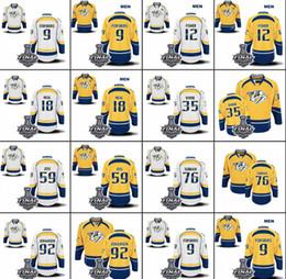 2019 camisetas de hockey nhl montreal canadiens 2017 Stanley Cup Final Predators Jersey 76 PK Subban 9 Forsberg 12 Fisher 18 Neal 35 Rinne 59 Josi 92 Johansen Hockey Jerseys