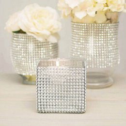 Wholesale Wholesale Rhinestone Napkin Rings - 24 Rows Rhinestone Napkin Rings Wedding Banquet Napkin Holder Wrap Napkin Buckle Chair Sashes Bow Covers Hotel Party Decoration