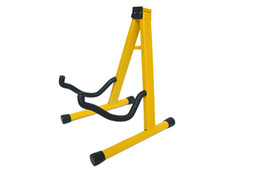 Wholesale Acoustic Pink - 2017 Hot Sale Rushed Black, Pink, Blue, Green, Yellow Guitar Stand Universal Folding A-frame Use for Acoustic Electric Guitars Floor Holder