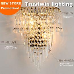 espejos de baño largos Rebajas Lámpara de pared de cristal clásico 110 v 220 v 12 v 24 v apliques de pared apliques decorativos de cristal vintage lámpara de pared LED