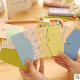 Wholesale letter stationary - Wholesale- 1Pcs Fresh Countryside Style Mini Novelty Envelope Message Card Letter Stationary Storage Paper Gift H0083