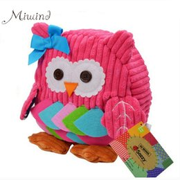 Wholesale High School Toys - Wholesale- Sozzy Cute Kid Plush School Backpacks 25cm Animal Figure Bag Kid Girls Boys Gifts Toy Owl Cow Frog Monkey Schoolbag High Quality