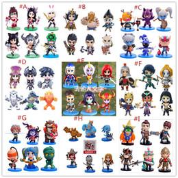Wholesale League Legends Accessories - HOT League of Legends Action Figures all heroes 10cm PVC Figure Toys 6pcs set Car pendants