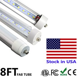 Wholesale Natures Shop - 8 ft LED Light Bulb T8 Tubes Lamp Single Pin FA8 45W 8ft Repalcement Fluorescent Shop Light Bulbs SMD2835 AC85-265V Stock In US