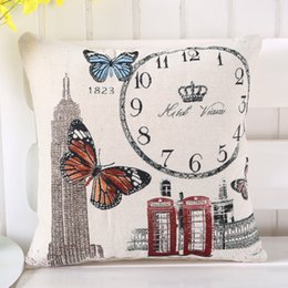 Wholesale Used Sofas - Famous Series Pattern Printed 45*45cm Cotton Linen Pillowcase Decorative Cushion Pillows Use For Home Sofa Car Office 1707007