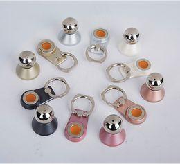 Wholesale Steel Rotating Rings - Magnetic steel ball universal ring bracket 360 degree rotating mobile phone bracket ring buckle