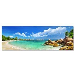 ARTPIONEER seascape пейзаж изображение современный Home Wall Decor Art Печать холст стены украшения HD Фотографические работы пляжа от Поставщики художественные работы
