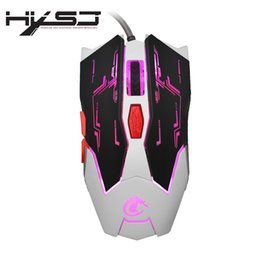 Wholesale Moving Mouse - HXSJ X100 Professional USB Wired Quick Moving LED Light Gaming Mouse Mice Game Peripherals with Six Buttons
