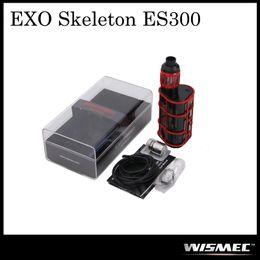 Wholesale H2 Tanks - Authentic Wismec EXO Skeleton ES300 TC Kit with 300W ES200 Box Mod & 2.8ml KAGE Tank WT-H2 0.4ohm & WT-V3 0.17ohm Head