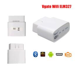 Wholesale Vgate Icar - Original Vgate iCar Wifi ELM327 OBD 2 ELM 327 OBD2 V1.5 Car Fault Code Reader Scanner Automotive For iPhone Android PC