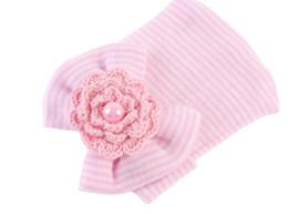 NOUVEAU nouveau grand bowknot fleurs perle tricot chapeaux enfants photographie accessoires chapeaux infantile serre-tête ? partir de fabricateur