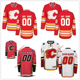 Wholesale Flame Numbers - Custom Calgary Flames Jersey 2017 2018 New Any name number all stitched