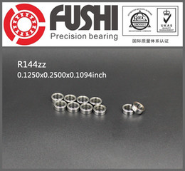 "Wholesale Rc X1 - Wholesale- R144ZZ Bearing ABEC-1 (10PCS) 1 8""x1 4""x7 64"" inch Miniature R144 ZZ Ball Bearings For RC Models"