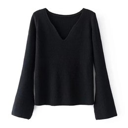 Wholesale Long Cuffed Sweater - 2017 autumn and winter European and American high quality new womenswear v-neck cuff sleeves cardigan sweater knitwear
