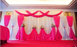 Wholesale Multi Compound - Express free shipping 3m*4m+ 2m*2m*2 mariage decoration Compound wedding background backdrops curtain