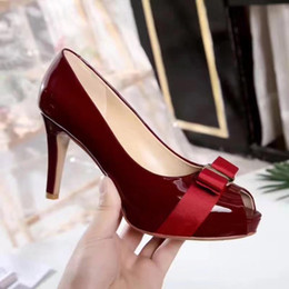 Wholesale Red Heels Dress Sex - Women dress shoes Italy style red woman shoes platform Peep toe Brand Women pumps With high 8cm Sex High heels size 35-40