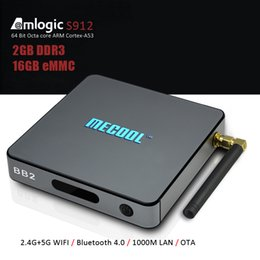 Wholesale Black Network Hdmi - MECOOL BB2 Amlogic S912 Android 7.1 TV Box Octa Core 2GB 16GB 1000M Network WiFi 2.4G 5.8G Streaming Media Player