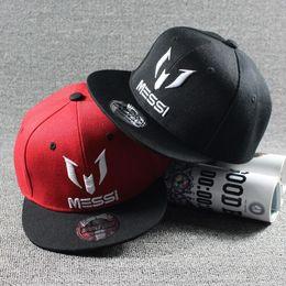 Wholesale Snapback Hats Child - Wholesale- 2016 New Fashion Children Ronaldo CR7 Baseball Cap Hat Boys Girls Kids Sports MESSI Snapback Hats Hip Hop Caps Gorras