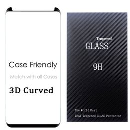 Wholesale Wholesale Small Cases - note8 S8 Case Friendly 3d glass For Samsung Galaxy S8 S8 Plus s7 edge Small Type 3D Curved Tempered Glass Screen Protector
