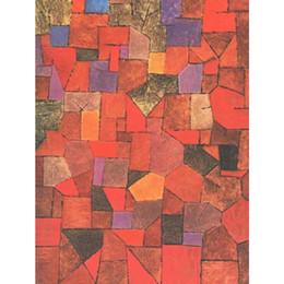 2019 dipinti di villaggio Quadri astratti Mountain Village (autunnale) -Paul Klee artwork olio su tela dipinto a mano sconti dipinti di villaggio