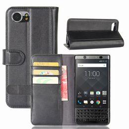 Wholesale Mercury Flip Case - Flip Cover for BlackBerry Keyone  Mercury  DTEK70, TPU+ Genuine Leather Wallet Stand Case with Card Slots