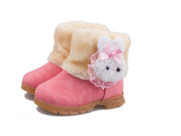 Wholesale Korean Baby Shoes - 2017 winter models new Korean children's snow boots girls boots baby cotton shoes boots baby cotton shoes