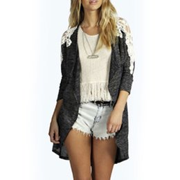 Wholesale Women Stylish Blazers - Wholesale-Women's Lady Casual Fashion Lace Long Sleeve Coat Overcoat Blazer Trench Charming Stylish Soft Parka Jacket Cardigan