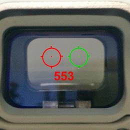 2019 airsoft gun red dot 553 Holographic Sight Reflexvisier Red Dot Optics Zielfernrohr Sniper Scope Für Airsoft Air Guns Mit 20mm Schiene günstig airsoft gun red dot
