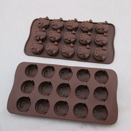 Wholesale Cookie Chocolate Mold Mould Baking - Chocolate Silicone Mold Cookies Ice Cube Mould Soap Cake Baking Mold Tray Flexible Moulds Cupcake Bake Tools