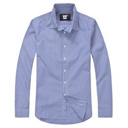 Wholesale Big Collar Shirt Xxl - Free Shipping TS 2017 men long sleeve shirt plaid shirt men polos casual shirts regular fit mens cargo shirts big size s-xxl