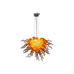 Wholesale Italian Pendant Lighting - Home Decor Hand Blown Glass Chandelier Light Led Light Source Modern Art Designed Chihuly Style Italian Style Chandelier