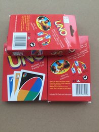 Wholesale Toy Play Wholesale - Popular Entertainment Card Games UNO cards Fun Poker Playing Cards Family Funny Board Games Standard DHL Free