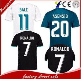Wholesale host green - 2018 football champions league fan edition jerseys, 2017   18, Real Madrid soccer jerseys, host guest 1718th, Ronaldo football, jeresys Asen