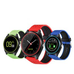 Wholesale Health Sport Watch Dhl - Bluetooth Smart Watch V9 With Camera Smartwatch Pedometer Health Sport Clock Hours Men Women Smartwatch For Android DHL free shipping