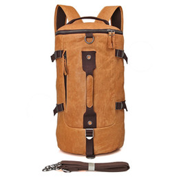 Wholesale Travel Purses For Men - Genuine Leather Men's Shoulder Messenger Travel Bag Bucket JMD Cross Body Purse For School Backpack Hand bags 2003