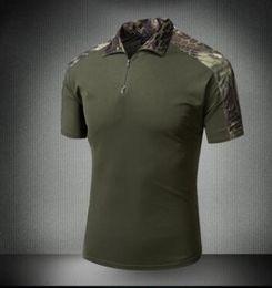 Wholesale Nylon Tee Shirts - Men Summer Brand Clothing 2017 New Mens Tactical T Shirt Short Army Camouflage T-Shirts Cotton Top Tee Shirts